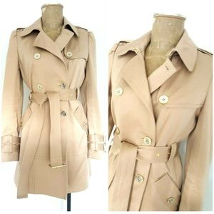 Juicy Couture Khaki Double Breasted Trench Coat
